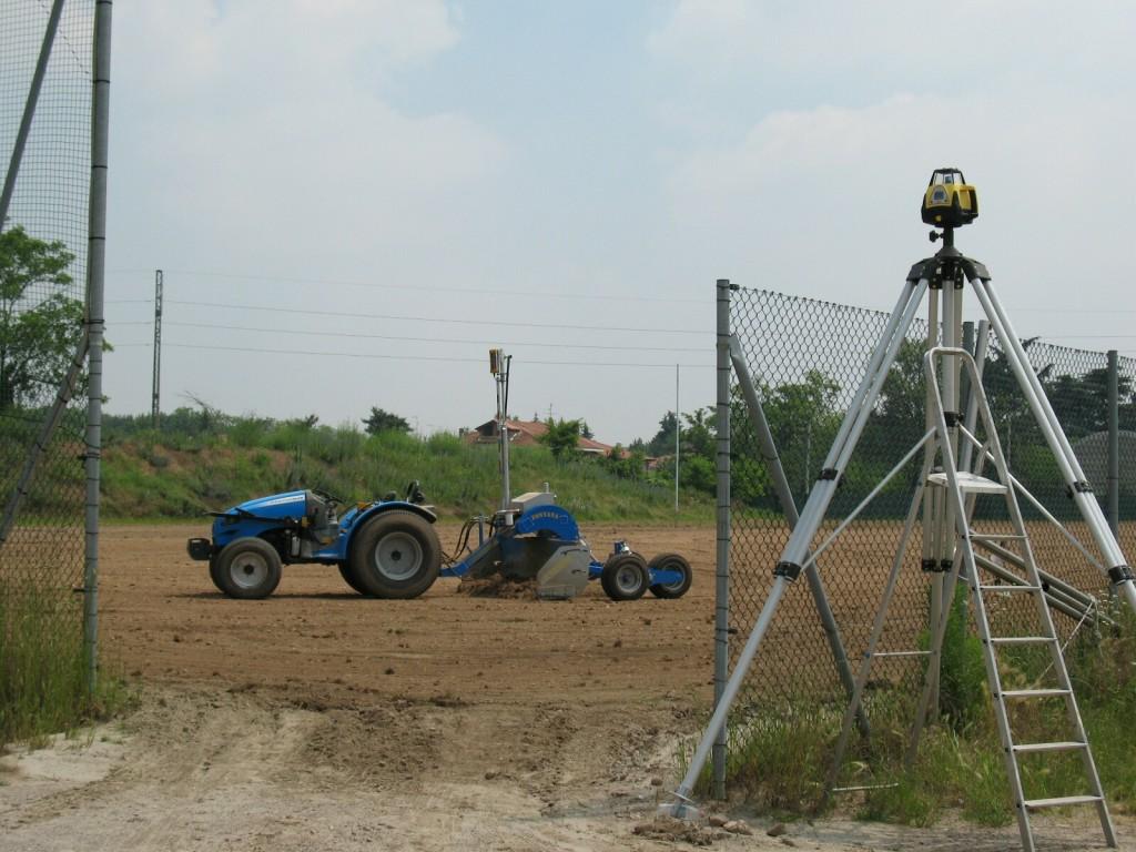 La costruzione di un campo da calcio